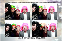 Ben & Nic's Wedding @Reid Rooms, Chelmsford, Essex, 9/12/2016.